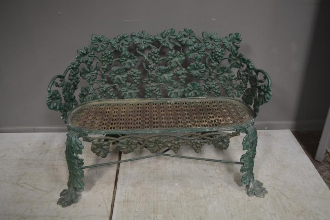 Antiques - green bench