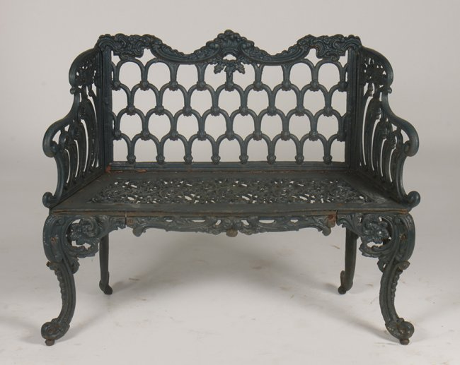 Antiques - iron bench 2