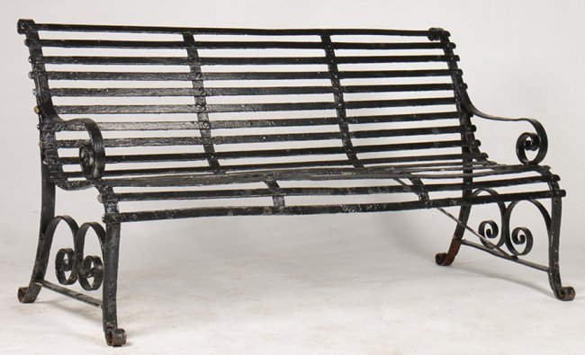 Antiques - iron bench