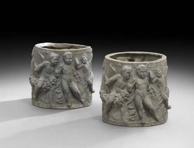 Antiques - lead urns
