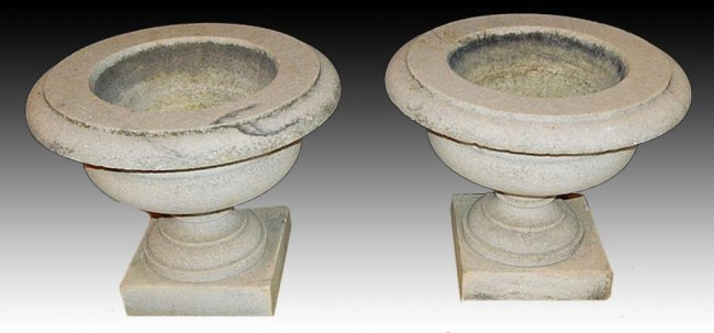 Antiques - marble urns