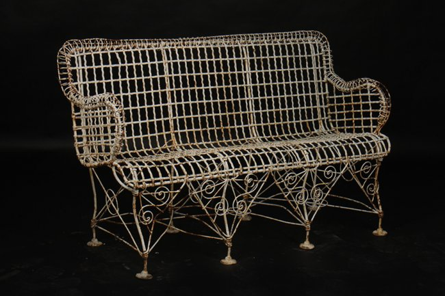 Antiques - wire bench