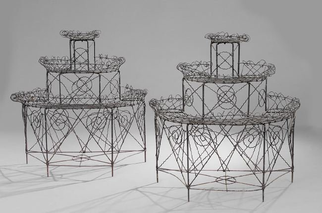 Antiques - wire plant stands