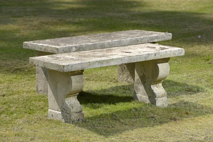 Antique stone benches
