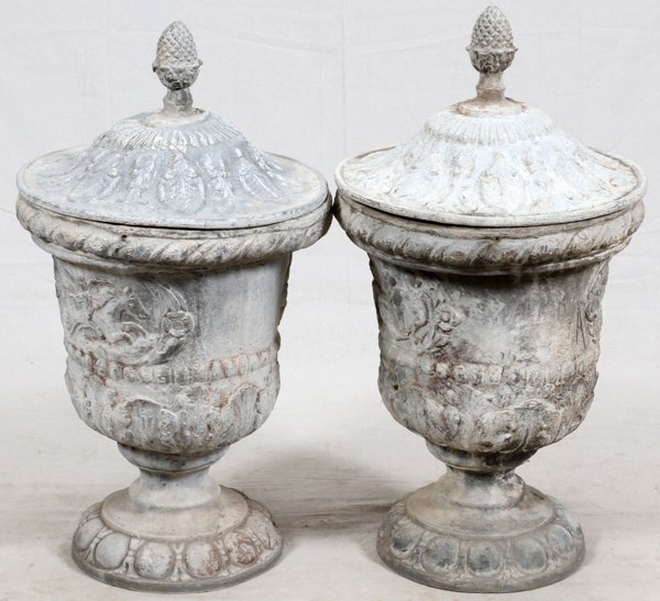 lead urns with lids