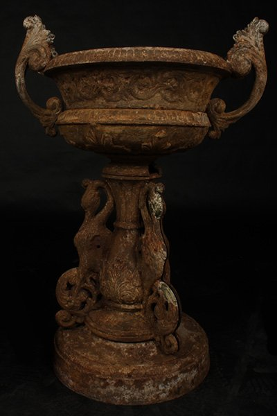 Antiques - iron urns