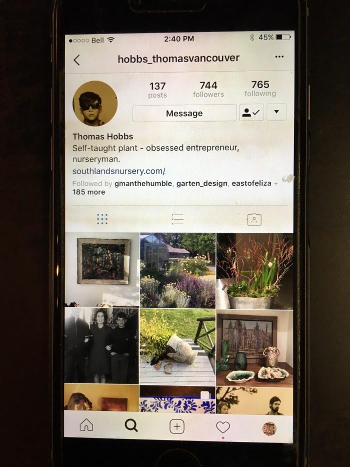 Thomas Hobbs Instagram