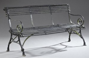 antique bench - new iron